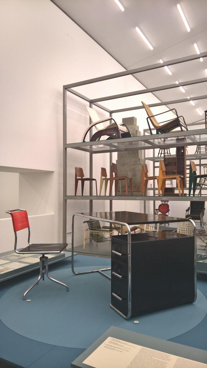 B7 swivel chair by Marcel Breuer for Thonet & B282 desk by Bruno Weill for Thonet Frères Paris, as seen at Anton Lorenz: From Avant-Garde to Industry, Vitra Design Museum Schaudepot, Weil am Rhein