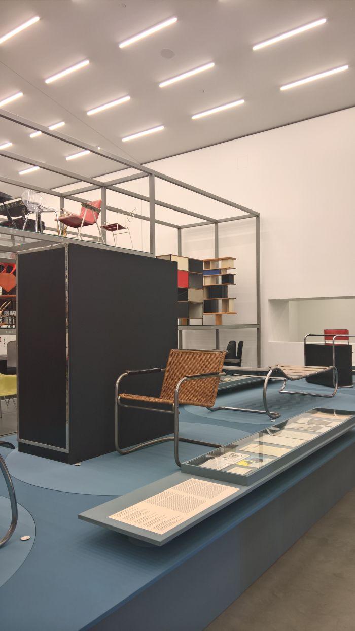 KS 41g cantilever chair & SR 112 wardrobe by Anton Lorenz for DESTA, as seen at Anton Lorenz: From Avant-Garde to Industry, Vitra Design Museum Schaudepot, Weil am Rhein