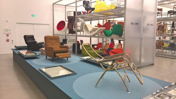 The evolution of Anton Lorenz's reclining chairs, as seen at Anton Lorenz: From Avant-Garde to Industry, Vitra Design Museum Schaudepot, Weil am Rhein