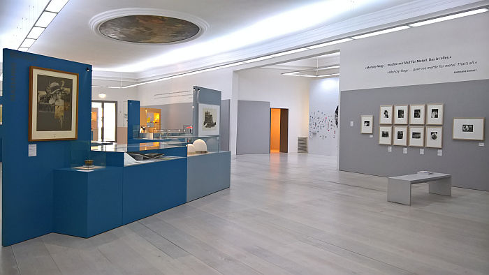 "Works by Marianne Brandt, as seen at Four ""Bauhausmädels"", Angermuseum, Erfurt"
