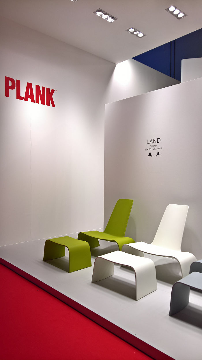 Land, plastic, by Naoto Fukasawa for Plank, as seen at Milan Furniture Fair 2019