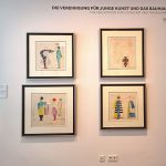 Sketches by Oskar Schlemmer for costumes for the 1928 ballet, Spielzeug, as seen at Between Utopia and Adaptation. The Bauhaus in Oldenburg, Landesmuseum für Kunst und Kulturgeschichte Oldenburg