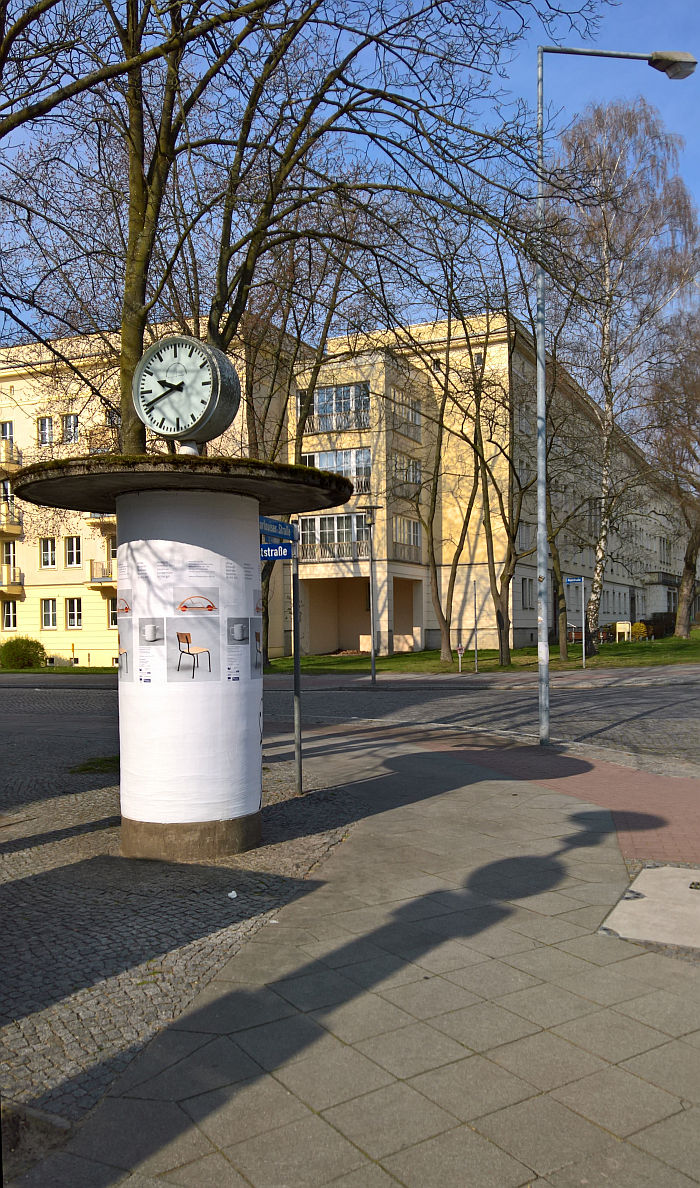 Advertising wie damals....., as seen on the way to Shaping everyday life! Bauhaus modernism in the GDR, Dokumentationszentrum Alltagskultur der DDR, Eisenhüttenstadt