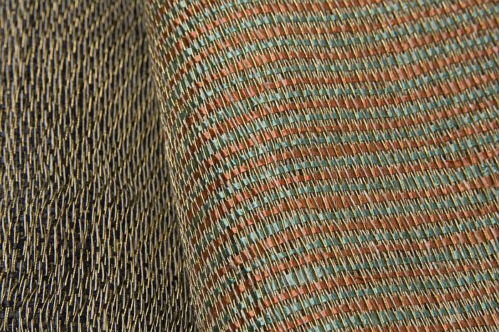 Cellophane and copper fabrics designed by Kitty van der Mijll Dekke and woven at Bauhaus Dessau (Photo © & Courtesy Joep Vogels/TextielMuseum)