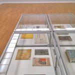 Works by Gunta Stölzl for Flora, Zürich (l) and a Deutsche Wekstätten Hellerau textile based on a Bauhaus pattern (r), as seen at Bauhaus. Textiles and Graphics, Kunstsammlungen Chemnitz