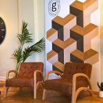 Oslo by RaSun and Groveneer wood wall coverings, as seen at Navara, the Embassy of Estonia, 3daysofdesign Copenhagen 2019
