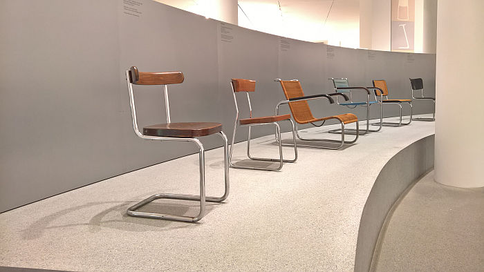 Works by Gebrüder Thonet, Bruno Weill, Andre Guyot, Marcel Breuer & Mart Stam, as seen at Thonet & Design, Die Neue Sammlung - The Design Museum, Munich