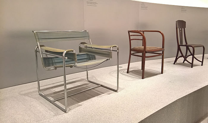 Marcel Breuer B 3 Wassily armchair & Postsparkasse chair by Otto Wagner & Josef Hoffmann, as seen at Thonet & Design, Die Neue Sammlung - The Design Museum, Munich