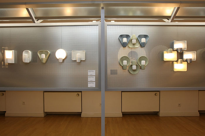 Systral frames and Elroyal bulbs by Wilhelm Wagenfeld for Lindner, as seen at Wilhelm Wagenfeld: Lamps, Wilhelm Wagenfeld Haus, Bremen