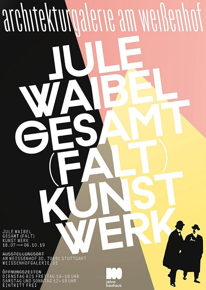 Jule Waibel. Gesamt (Falt) Kunst Werk at the architekturgalerie am weißenhof, Stuttgart