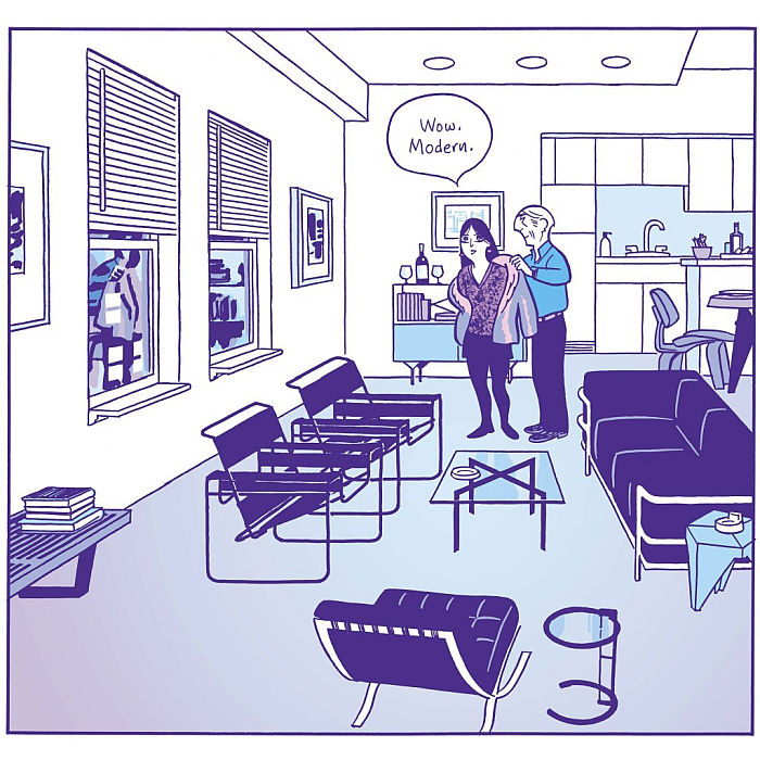 Asterios Polyp by David Mazzucchelli, as featured in Living in a Box. Design and Comics, Vitra Design Museum Schaudepot (Image © Pantheon Books, courtesy Vitra Design Museum)