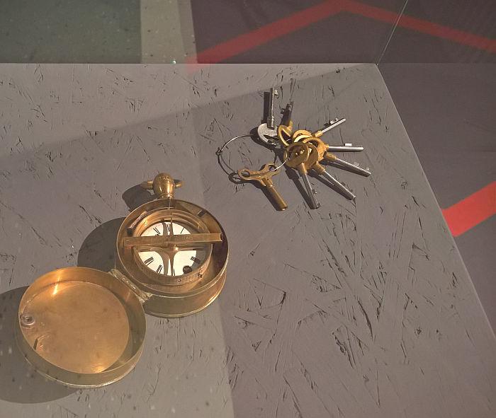 Nachtwächter-Kontrolluhr by Johannes Bürk, as seen at Time, Freedom and Control. The Legacy of Johannes Bürk, the Uhrenindustriemuseum Villingen-Schwenningen