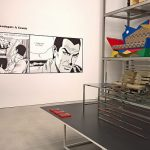 A Manga Chair by Nendo, as seen at Living in a Box. Design and Comics, Vitra Design Museum Schaudepot