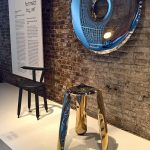 Plopp stool & Rondo mirror by Oskar Zieta, as seen at Design on Air, Centre d'innovation et de design au Grand-Hornu