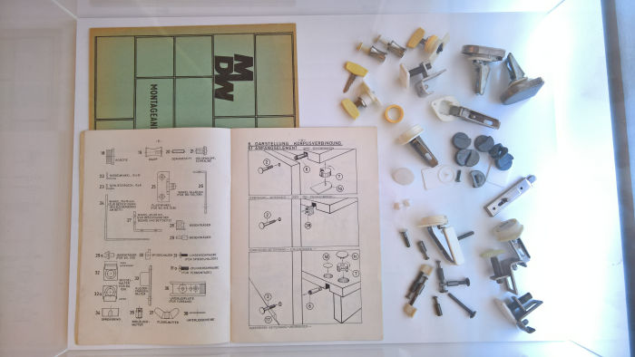 MDW components and assembly plan, as seen at Rudolf Horn - Wohnen als offenes System, the Kunstgewerbemuseum Dresden