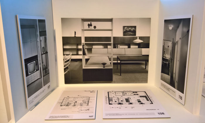Interiors from the Variable Wohnen apartments in Rostock, as seen at Rudolf Horn - Wohnen als offenes System, the Kunstgewerbemuseum Dresden