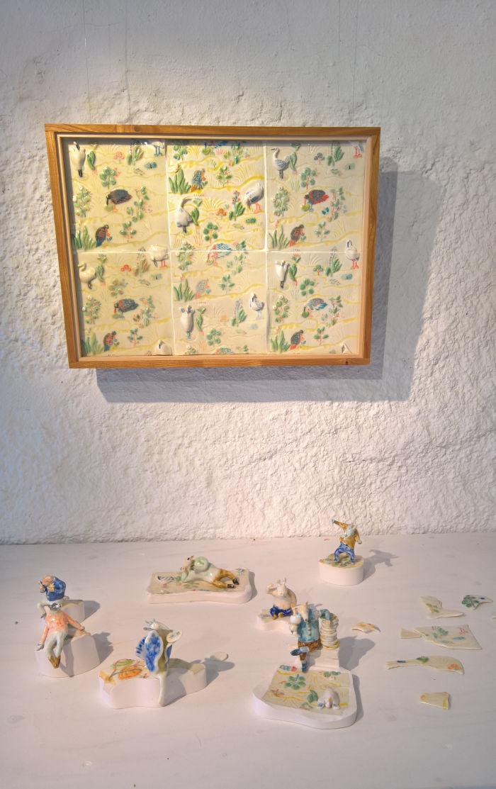 A translucent picture by Ryota Makino, as seen at Sommarutställning 2019, Capellagården