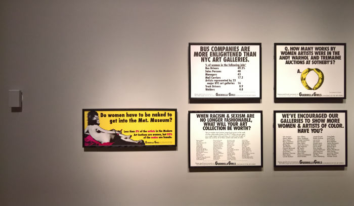 Works by Guerrilla Girls, as seen at 1989 - Culture and Politics, The National Museum Stockholm