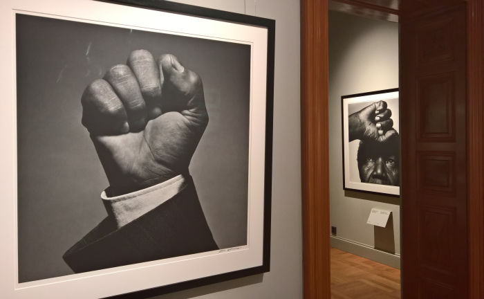 Nelson Mandela photographed by Hans Gedda, as seen at 1989 - Culture and Politics, The National Museum Stockholm