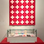 Blanket Krux by Wallén & milk packaging by Tom Hedqvist, as seen at 1989 - Culture and Politics, The National Museum Stockholm