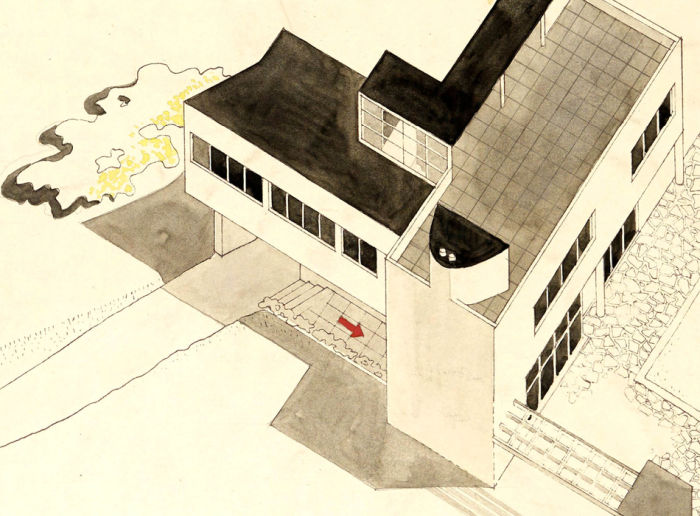 House in Ferriby by Leslie Martin and Sadie Speight, 1935 (Image RIBA Collections)