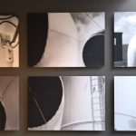 Photos of the cowls of the steamer Conte Biancamano by Le Corbusier, as seen at Mon univers, Pavillon Le Corbusier, Zürich