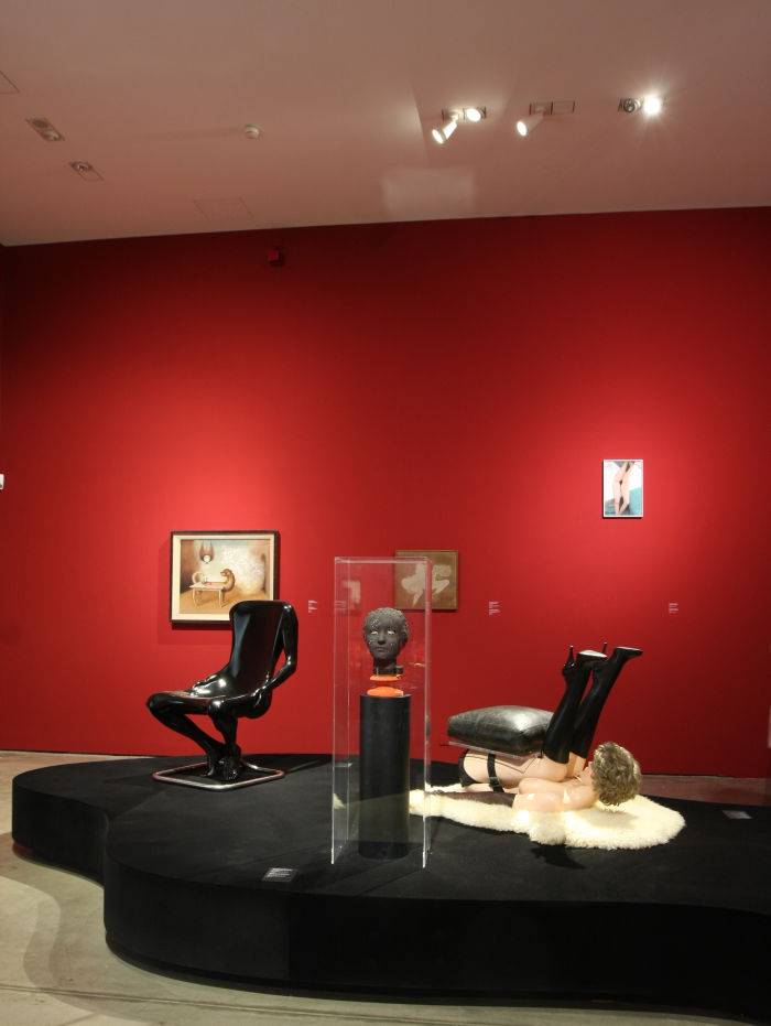 Man Chair by Ruth Francken (l) & Chair by Allen Jones (r), as seen at Objects of Desire. Surrealism and Design 1924 - Today, Vitra Design Museum