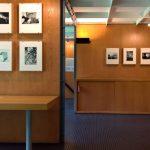 Photos of Le Corbusier by René Burri, inside the Pavillon Le Corbusier, Zürich