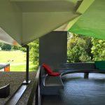 The Pavillon Le Corbusier rooftop lounge area