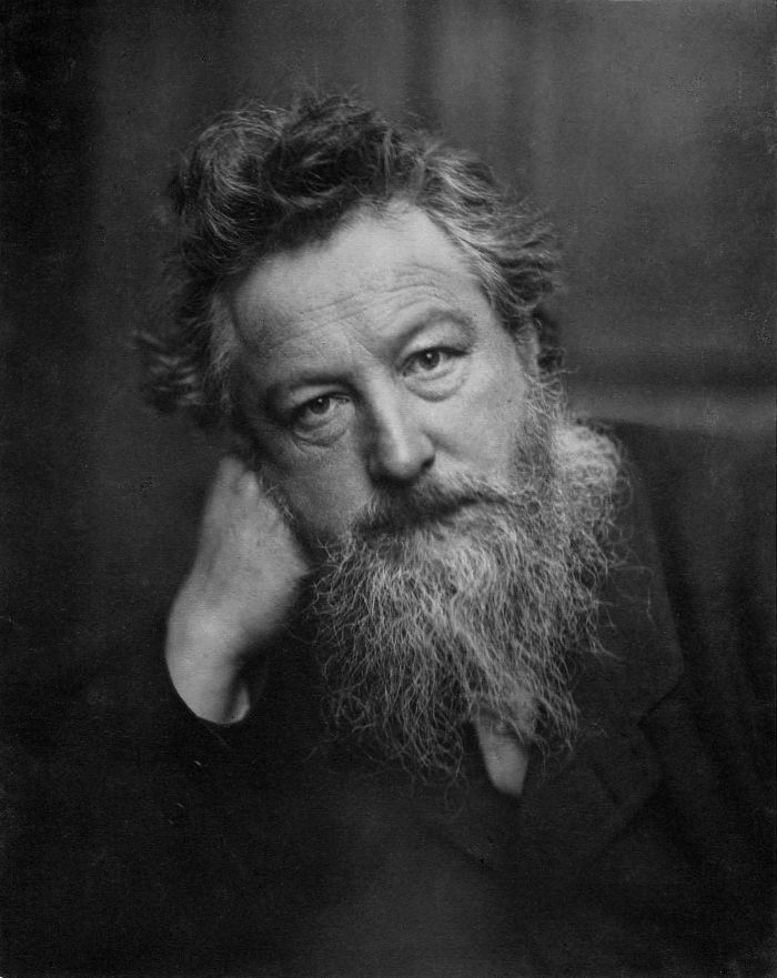 William Morris. A Bauhaus Pioneer...... (Photo c. 1887 by Frederick Hollyer via commons.wikimedia.org)