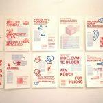 Quality in online journalism by So-jin Park, Sophie Pischel, Mena Standhaft and Lena Würsching, as seen at Rundgang 2019, Burg Giebichenstein Kunsthochschule Halle