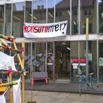 Konsummery (misspelt, but the message is clear), as seen at Summaery 2019, Bauhaus University Weimar