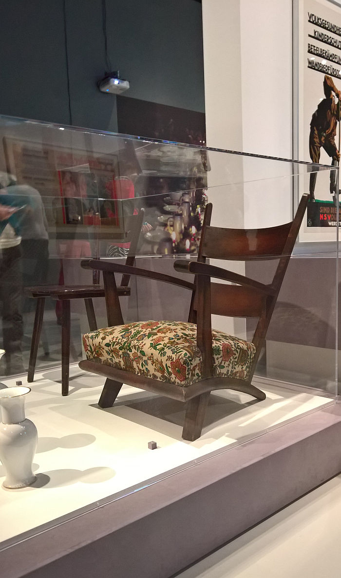 """Armchair in NS-Landhausstil"" ca 1933/34, as seen at Design of the Third Reich, Design Museum Den Bosch"