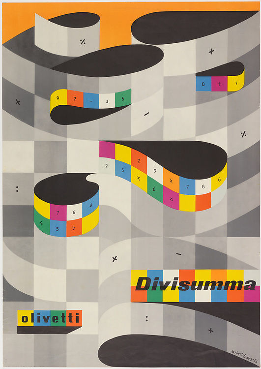 Divisumma by Herbert Bayer for Olivetti (1953) (Image © and courtesy Collection of Cooper Hewitt, Smithsonian Design Museum)