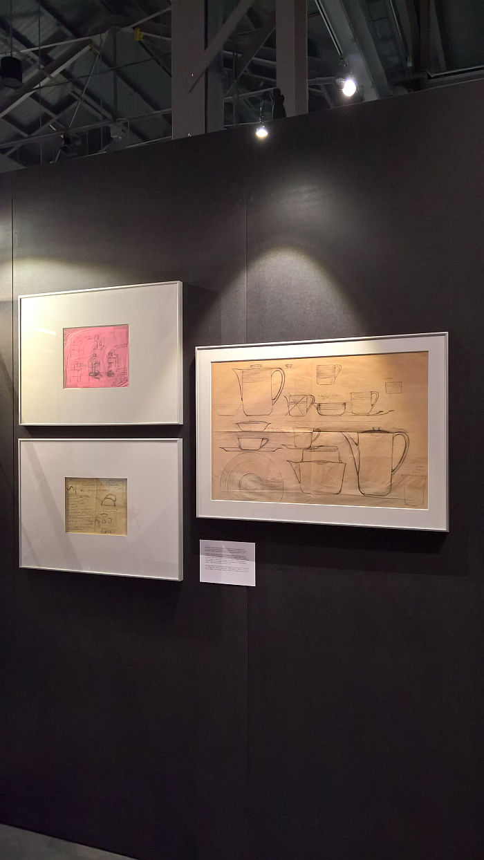 Product design sketches by Marianne Brandt, as seen at Ich bin ganz von Glas. Marianne Brandt and the Art of Glass Today, Sächsische Industriemuseum Chemnitz