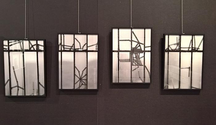 Tape Studies by Stefanie Pluta, as seen at Ich bin ganz von Glas. Marianne Brandt and the Art of Glass Today, Sächsische Industriemuseum Chemnitz