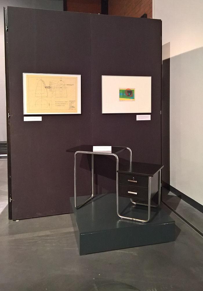 Marianne Brandt's desk by Marcel Breuer for Thonet, as seen at Ich bin ganz von Glas. Marianne Brandt and the Art of Glass Today, Sächsische Industriemuseum Chemnitz