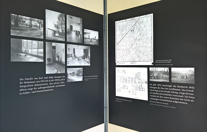 Documentation of Haus Heusgen Krefeld by Rudolf Wettstein & Willi Kaiser, as seen at Mies im Westen, Landeshaus des LVR Cologne