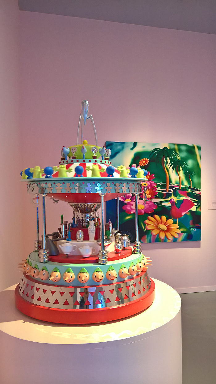 Giostrina Alessi by Alessandro Mendini (l) & Paradise by Micha Klein (r), as seen at Mondo Mendini, The Groninger Museum, Groningen