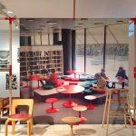 Children's furniture by Alvar Aalto (l) & Nanna Ditzel (m,r), as seen at Nordic Design. The Response to the Bauhaus, Bröhan Museum, Berlin