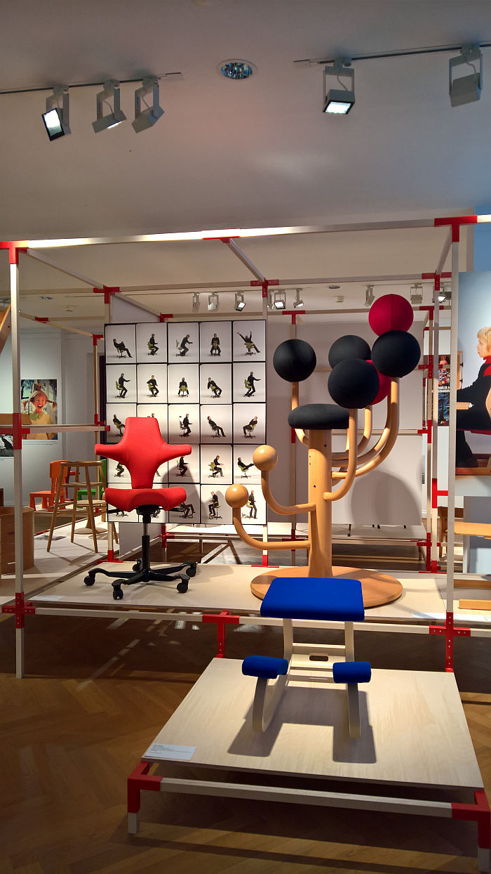 Works by Peter Opsvik, as seen at Nordic Design. The Response to the Bauhaus, Bröhan Museum, Berlin