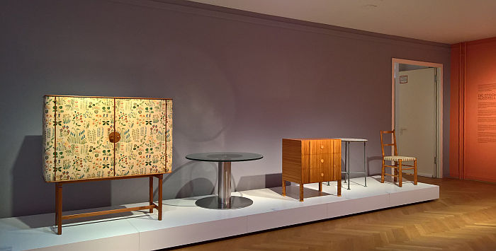Designs from Sweden by, and amongst others Josef Frank, Axel Einar Hjorth & Gunnar Asplund, as seen at Nordic Design. The Response to the Bauhaus, Bröhan Museum, Berlin