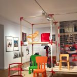 Children's chairs, as seen at Nordic Design. The Response to the Bauhaus, Bröhan Museum, Berlin