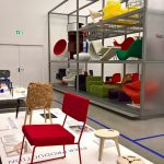 Jamil by Local Industries (l) and Edie from Opendesk (r), as seen at After the Wall. Design since 1989, Vitra Design Museum Schaudepot