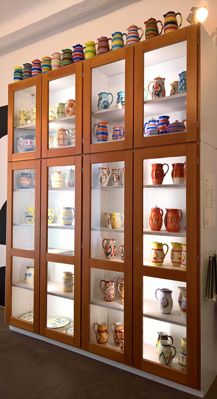 Spray decorated jugs, as seen at Decoration as Trespass?, Werkbundarchiv, Museum der Dinge, Berlin