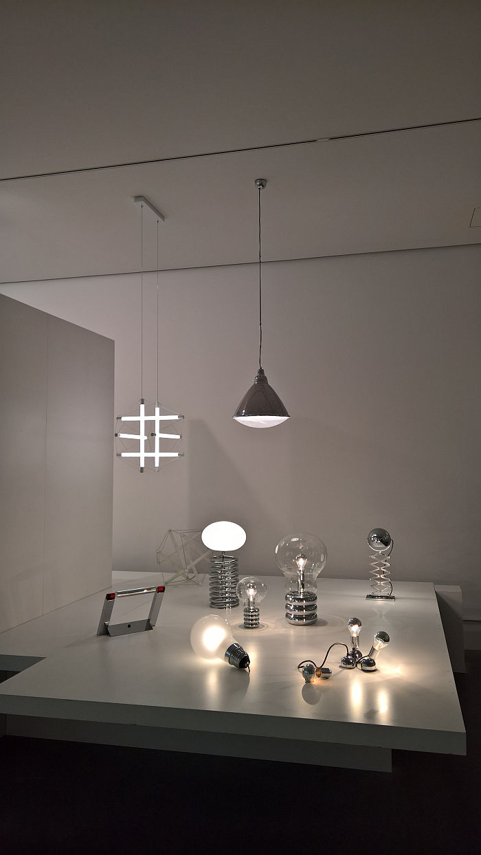 Early works by Ingo Maurer, including Bulb , as seen at Ingo Maurer intim. Design or what?, Die Neue Sammlung – The Design Museum Munich