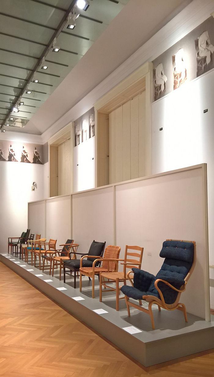 Wooden chairs from Scandinavia which formed part of Sitzen 69, as seen at Sitzen 69 Revisited @ MAK – Museum für angewandte Kunst, Vienna