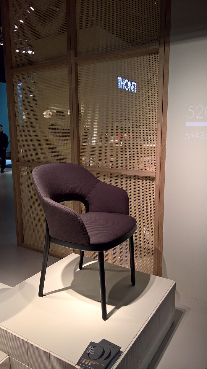 520 by Marco Dessí for Thonet armchair, as seen at IMM Cologne 2020