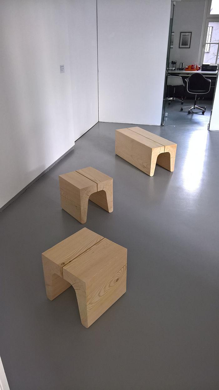 U Stool/Bench by Karoline Fesser & Harald Berchtold, as seen at Generation Köln trifft Bregenzerwald, Cologne