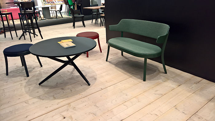 Seley by Frédéric Dedelley for Horgenglarus, also as a bench, as seen at IMM Cologne 2020